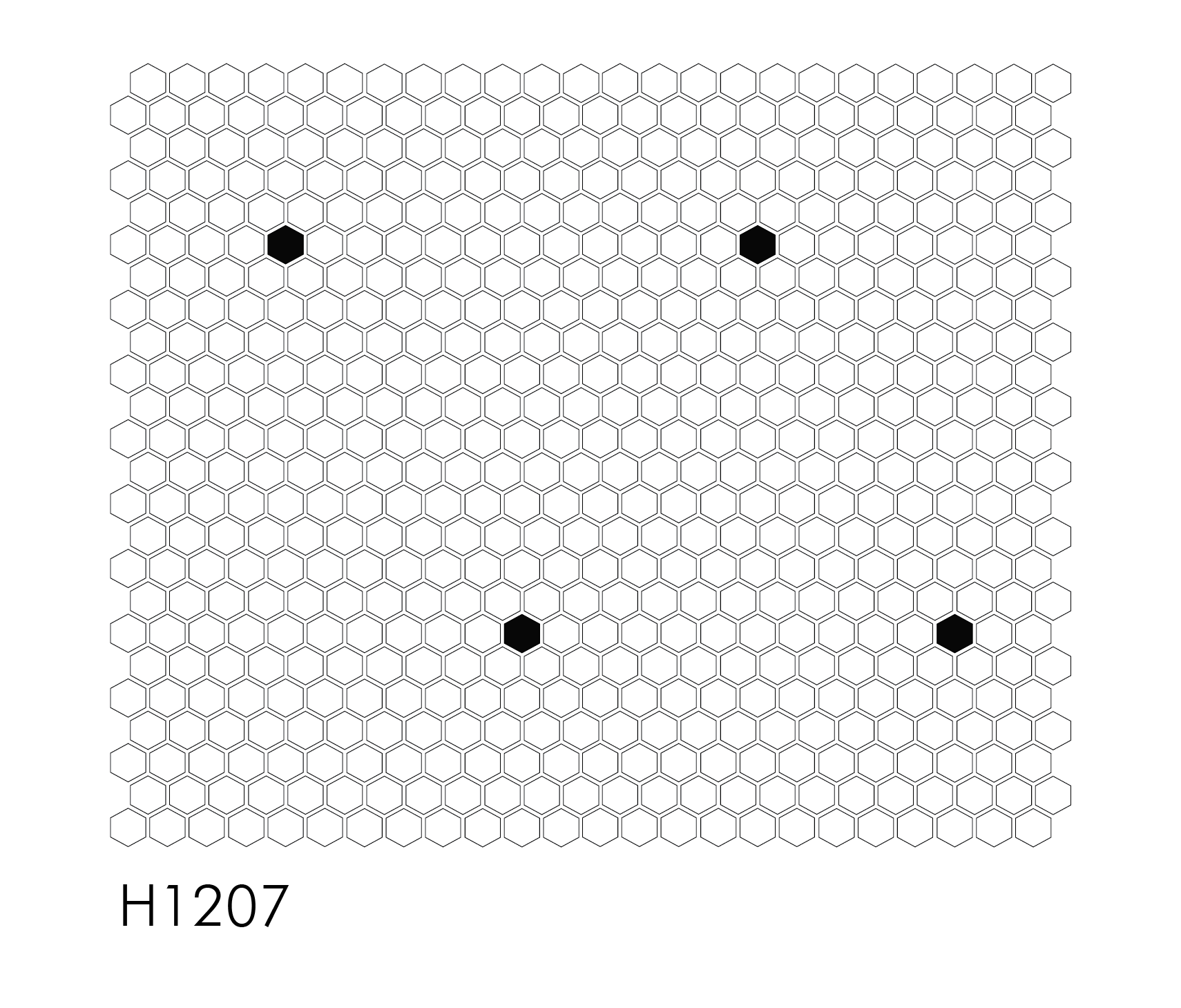 "H1207 Single Dot 1"" Hexagon Mosaic"