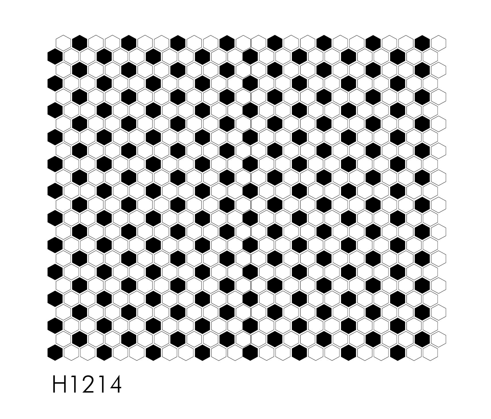 """H1214 Soccer Ball 1"""" Hexagon Mosaic"""
