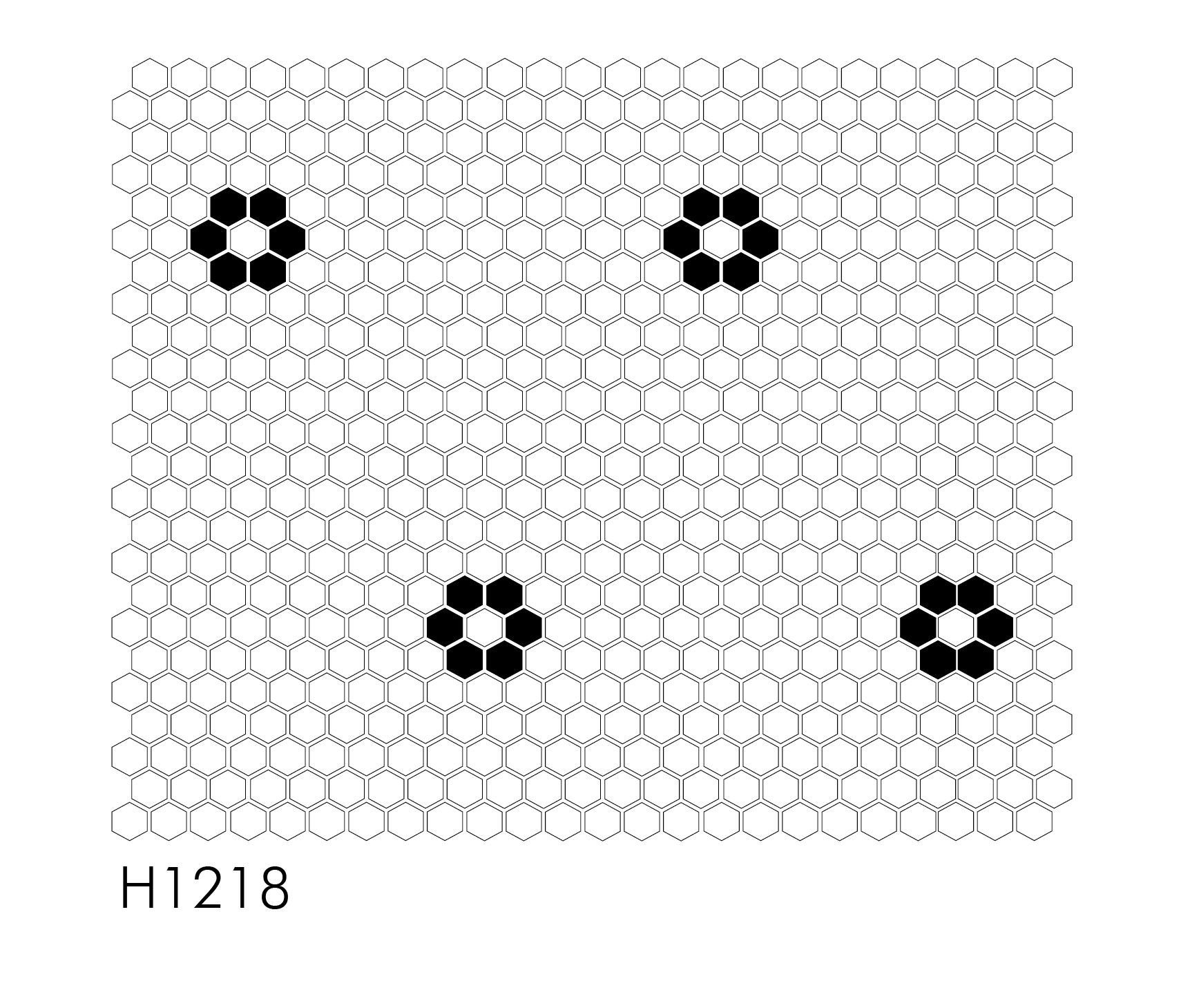 "H1218 - Double Rosette 1"" Hexagon Mosaic"