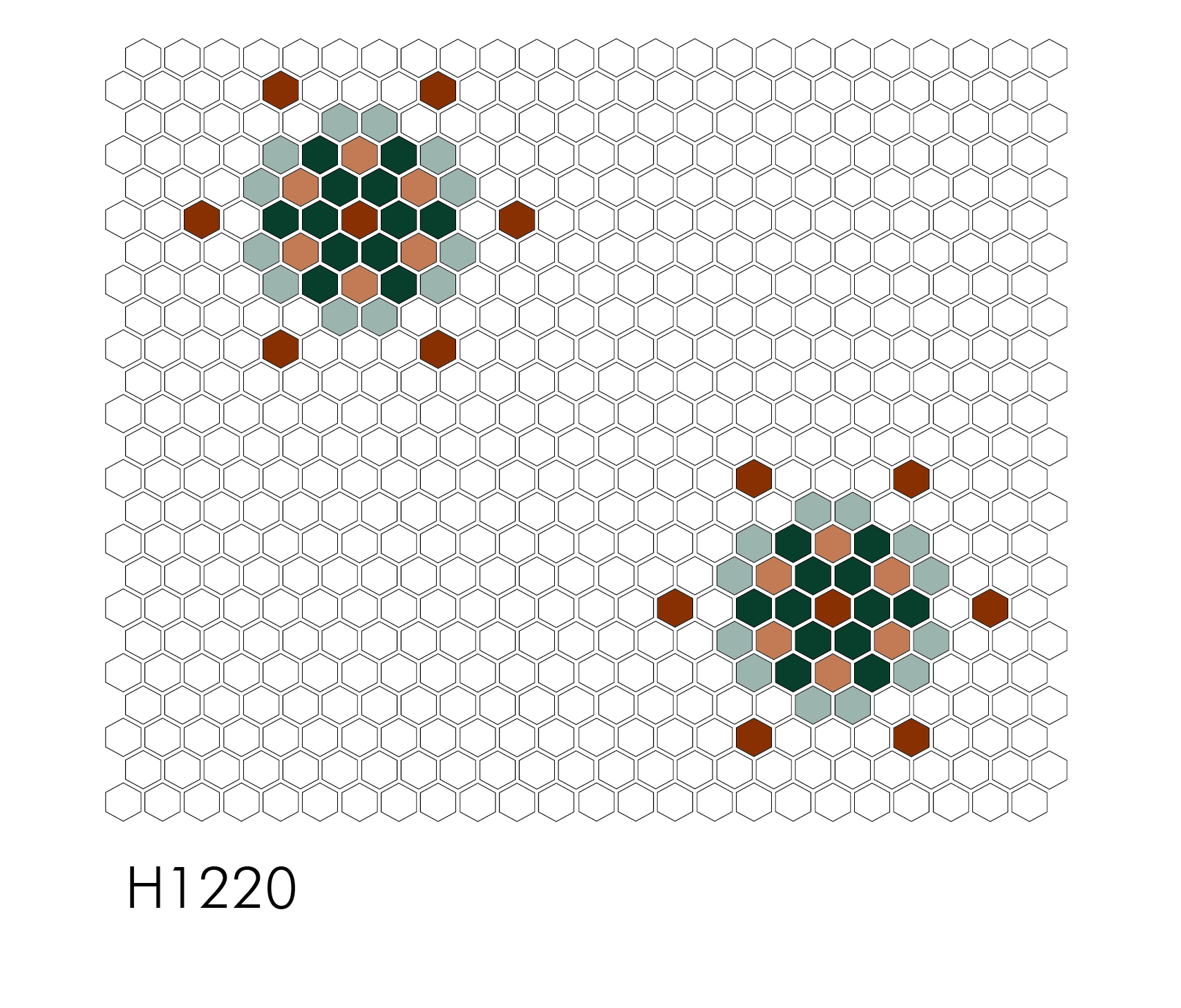 "H1220 Grand Snowflake 1"" Hexagon Mosaic"