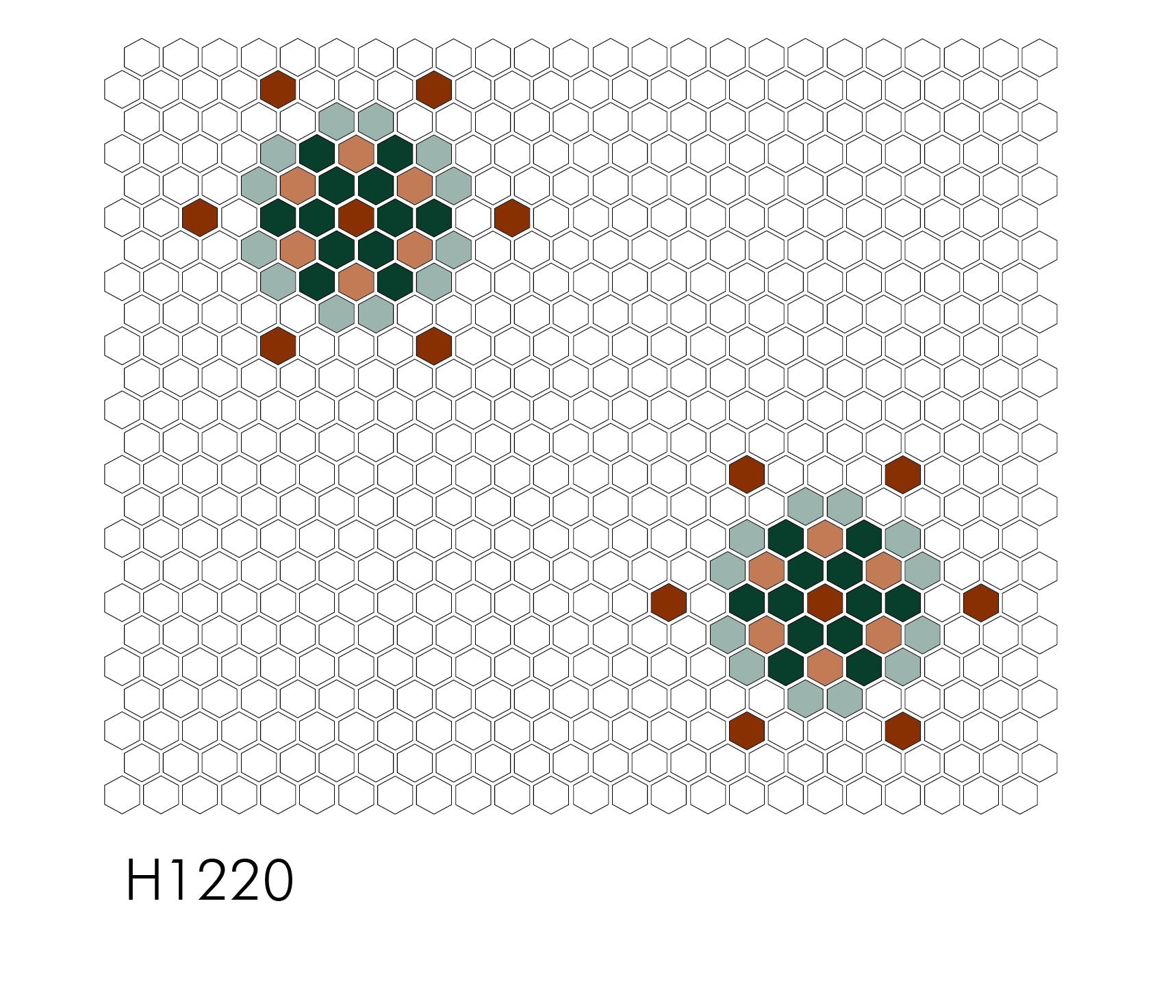 "H1220 Grand Snowflake 1"" Hexagon Mosaic"