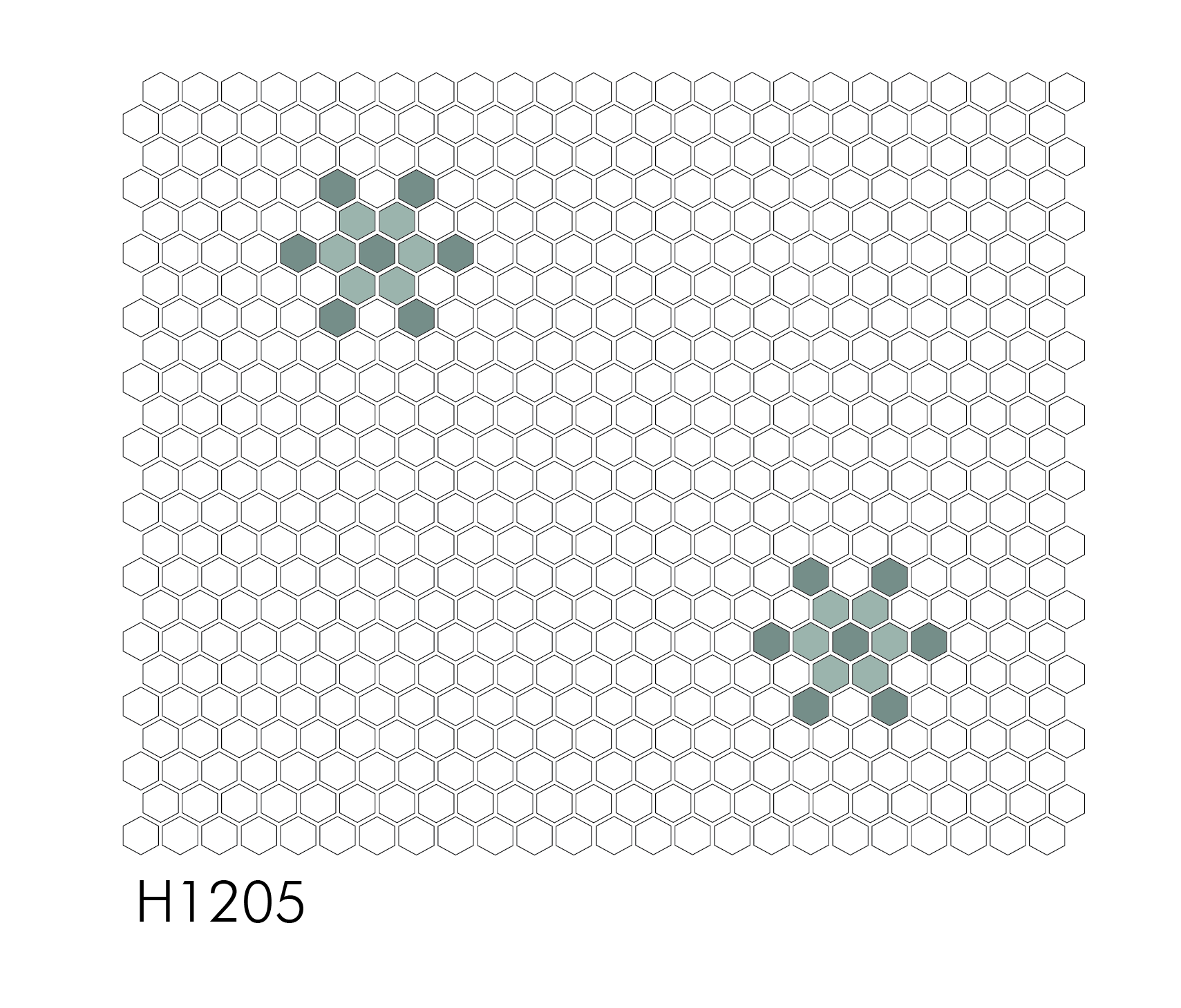 "H1205- Single Snowflake 1"" Hexagon Mosaic"