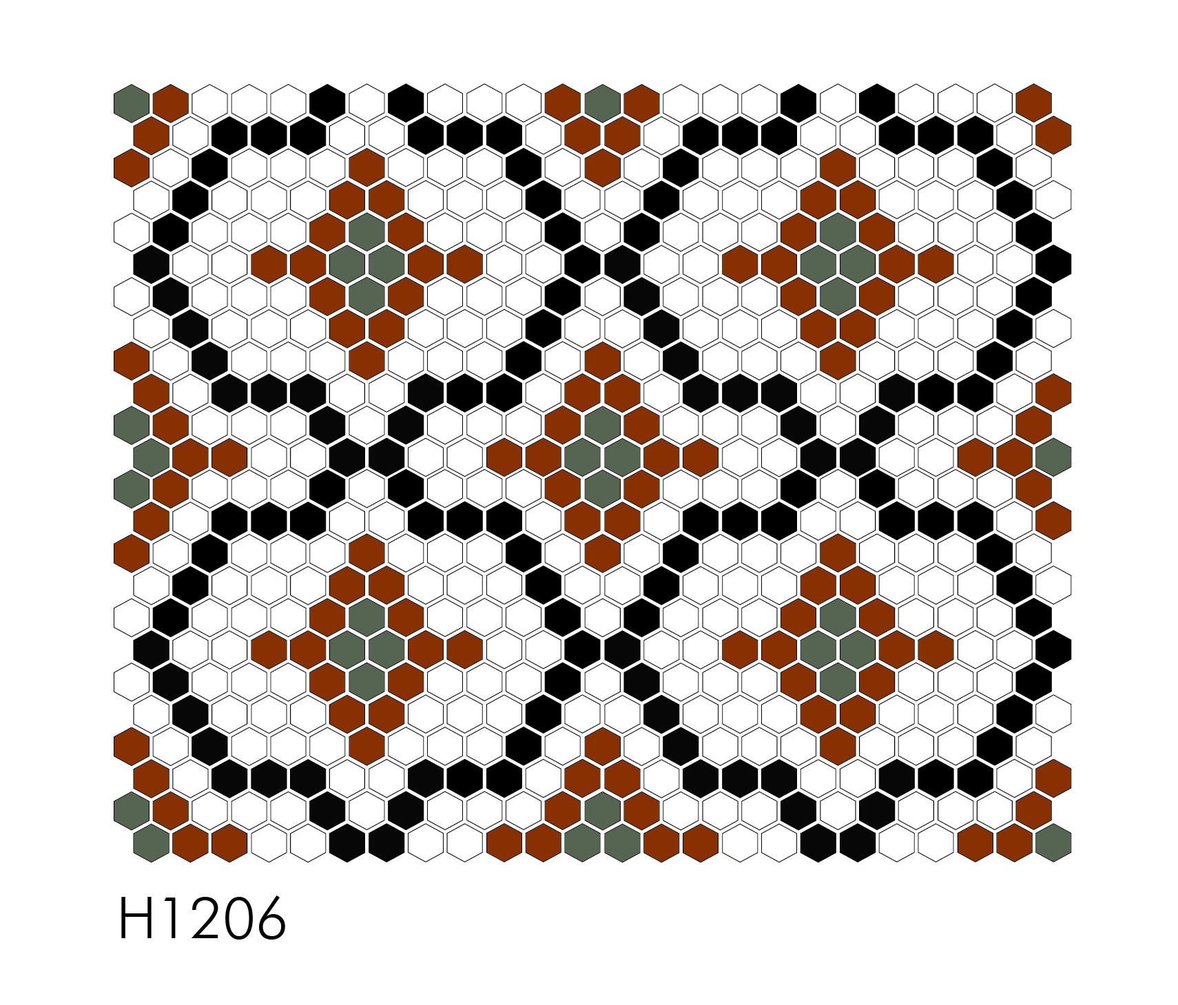 "H1206 1"" Hexagon Mosaic"